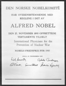 Pergamena Nobel 1985 (2)