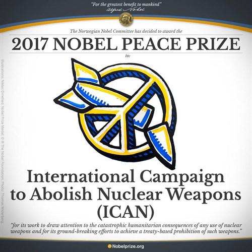 Premio Nobel per la Pace a ICAN